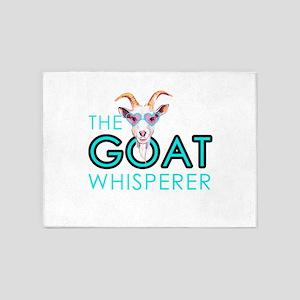 The Goat Whisperer Hipster Goat by GetYerGoat 5'x7