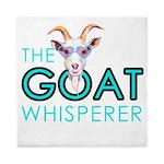 The Goat Whisperer Hipster Goat by GetYerGoat Quee