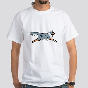 Blue Merle Sheltie White T-Shirt
