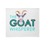 The Goat Whisperer Hipster Goat by GetYerGoat Thro
