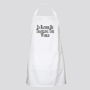 Rather Travel The World BBQ Apron