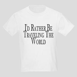 Rather Travel The World Kids Light T-Shirt