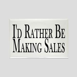 Rather Make Sales Rectangle Magnet