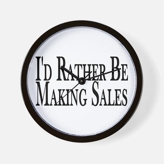 Rather Make Sales Wall Clock
