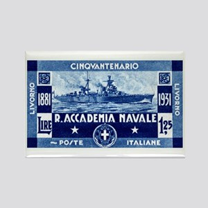 1931 Italian Naval Academy Rectangle Magnet