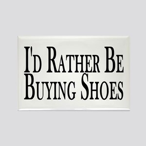Rather Buy Shoes Rectangle Magnet