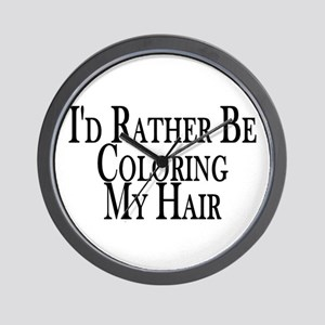 Rather Color My Hair Wall Clock
