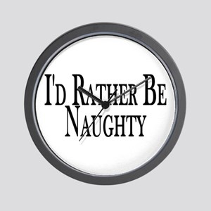 Rather Be Naughty Wall Clock