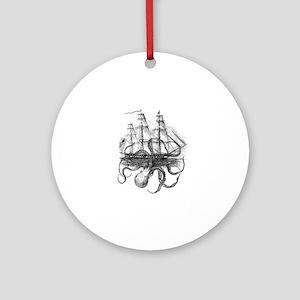 OctoShip Round Ornament