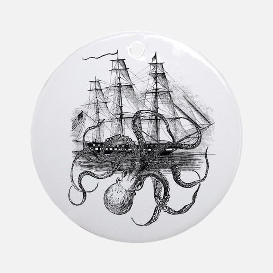 OctoShip Round Ornament