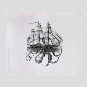 OctoShip Throw Blanket