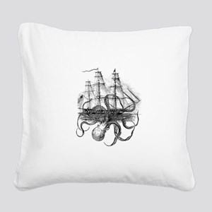 OctoShip Square Canvas Pillow