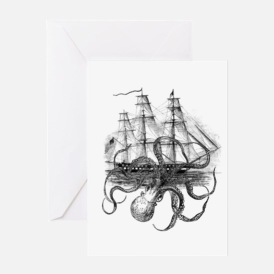 OctoShip Greeting Cards