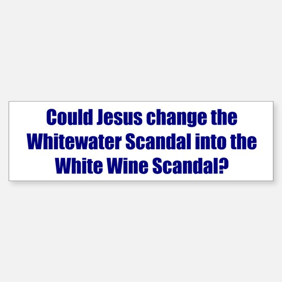 Could Jesus change the Whitewater Scandal into the