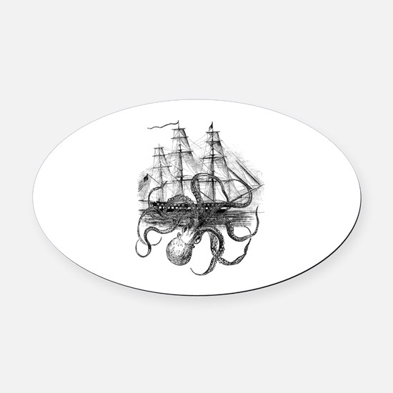 OctoShip Oval Car Magnet