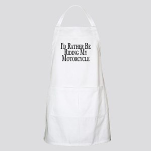 Rather Ride My Motorcycle BBQ Apron