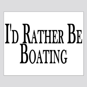 Rather Be Boating Small Poster