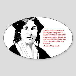 Alcott women quote Oval Sticker