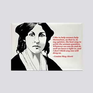 Alcott women quote Rectangle Magnet