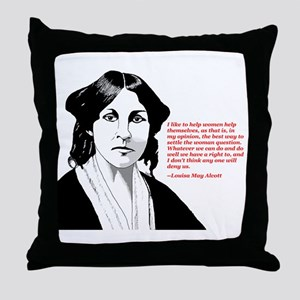 Alcott women quote Throw Pillow
