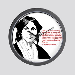 Alcott women quote Wall Clock