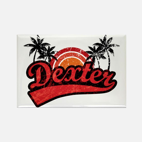 'Vintage' Dexter Rectangle Magnet