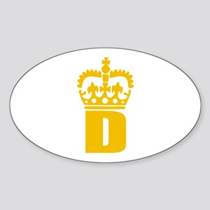 D - character - name Oval Sticker