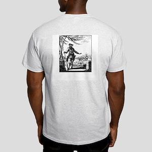 Blackbeard Pirate Flag Light T-Shirt