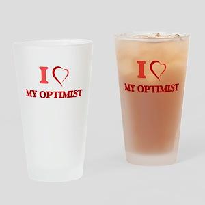 I Love My Optimist Drinking Glass