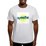 Blue/Gold PEACE Ash Grey T-Shirt