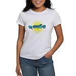 Blue/Gold PEACE Women's T-Shirt