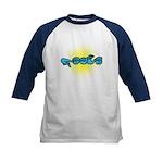 Blue/Gold PEACE Kids Baseball Jersey