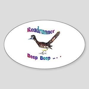 Roadrunner Beep Beep Oval Sticker