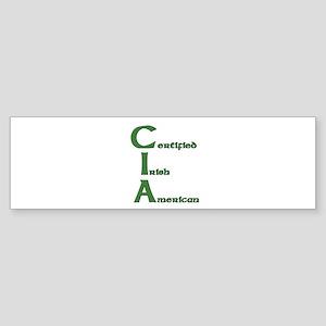 Certified Irish American Bumper Sticker