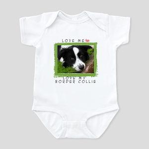 I Love Border Collies Infant Bodysuit