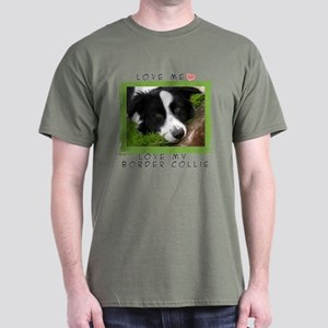 I Love Border Collies Dark T-Shirt