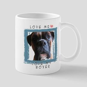 I Love My Boxer Dog Mug