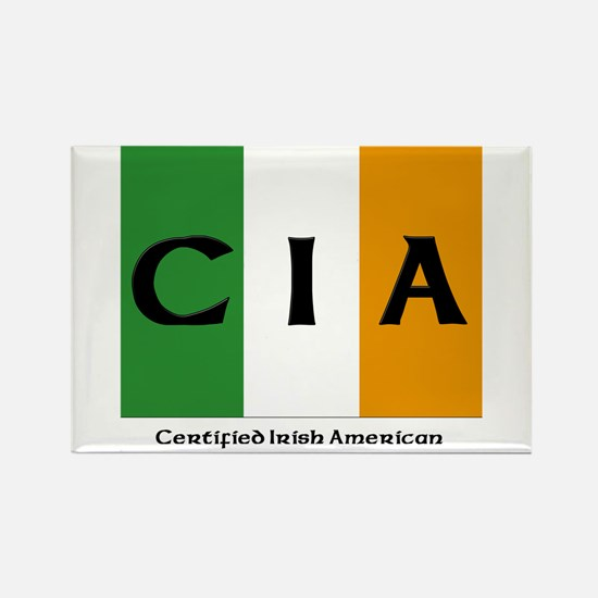 Certified Irish American Rectangle Magnet (100 pac