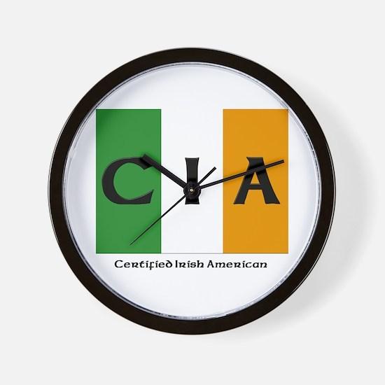 Certified Irish American Wall Clock