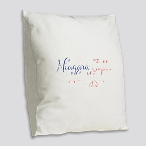 Niagara Falls New York Burlap Throw Pillow