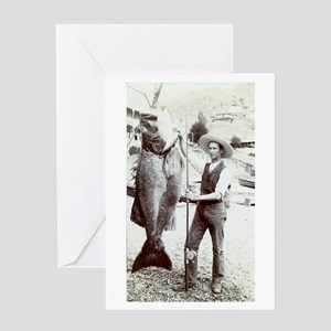 19th C. Fisherman Greeting Card