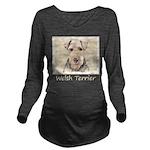 Welsh Terrier Long Sleeve Maternity T-Shirt