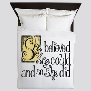 She Believed She Could Queen Duvet