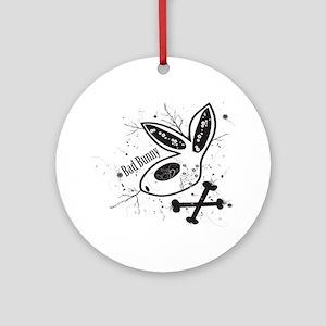 Black Bad Bunny Ornament (Round)