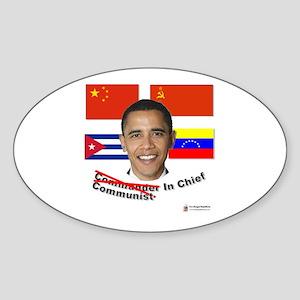 Communist in Chief Oval Sticker