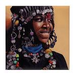 Bead Girl Tile Coaster