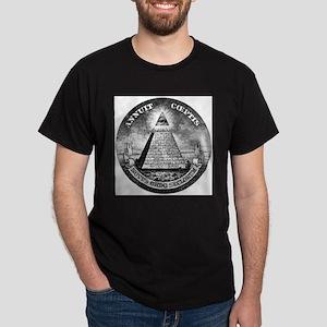 Weird Dollar Pyramid Ash Grey T-Shirt