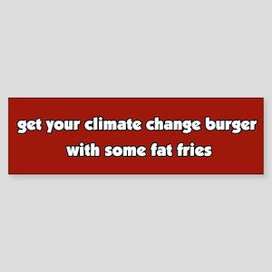 Climate Change Burger Bumper Sticker