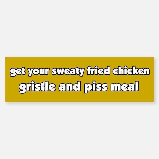 Anti-Fast Food Chicken Bumper Bumper Bumper Sticker