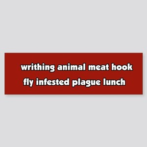 Animal Cruelty Vegetarian Bumper Sticker